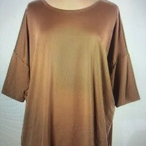 LULAROE soft long loose fit tee - XS Beige - EUC